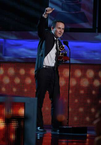 Singer Fonseca accepts the award for Best Tropical Fusion Album onstage during the 13th annual Latin GRAMMY Awards held at the Mandalay Bay Events Center on November 15, 2012 in Las Vegas, Nevada. Photo: Kevork Djansezian, Getty Images / 2012 Getty Images