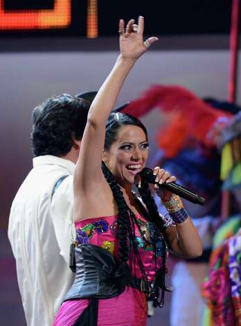 Singer Lila Downs performs onstage during the 13th annual Latin GRAMMY Awards held at the Mandalay Bay Events Center on November 15, 2012 in Las Vegas, Nevada. Photo: Kevork Djansezian, Getty Images / 2012 Getty Images