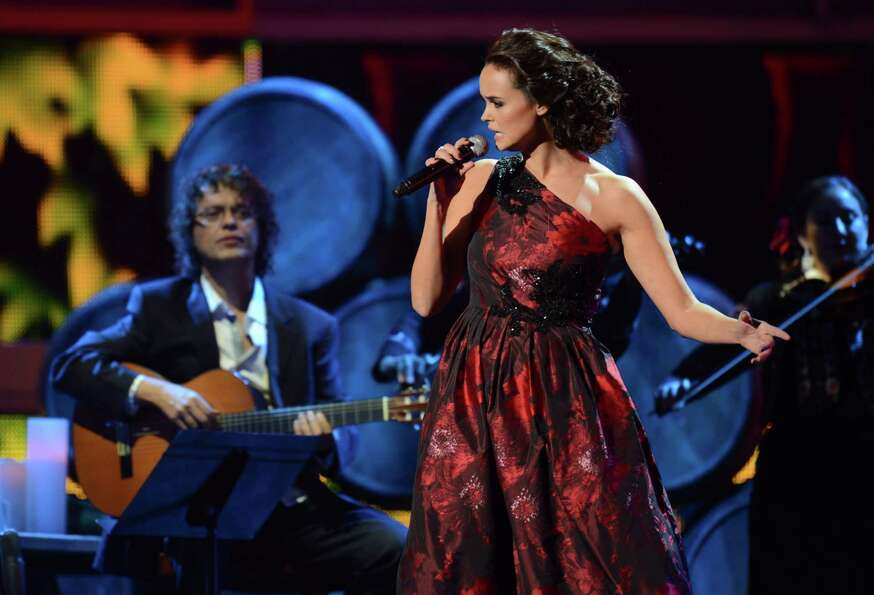 Singer Shaila Durcal performs during the 13th Annual Latin Grammy show on November 15, 2012 in Las V