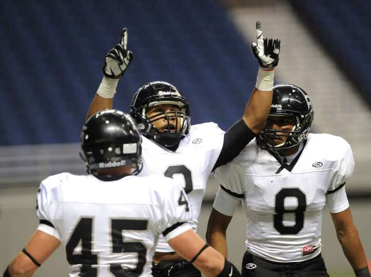 Jordan Sterns of Steele celebrates after returning a punt for a touchdown against Marshall during