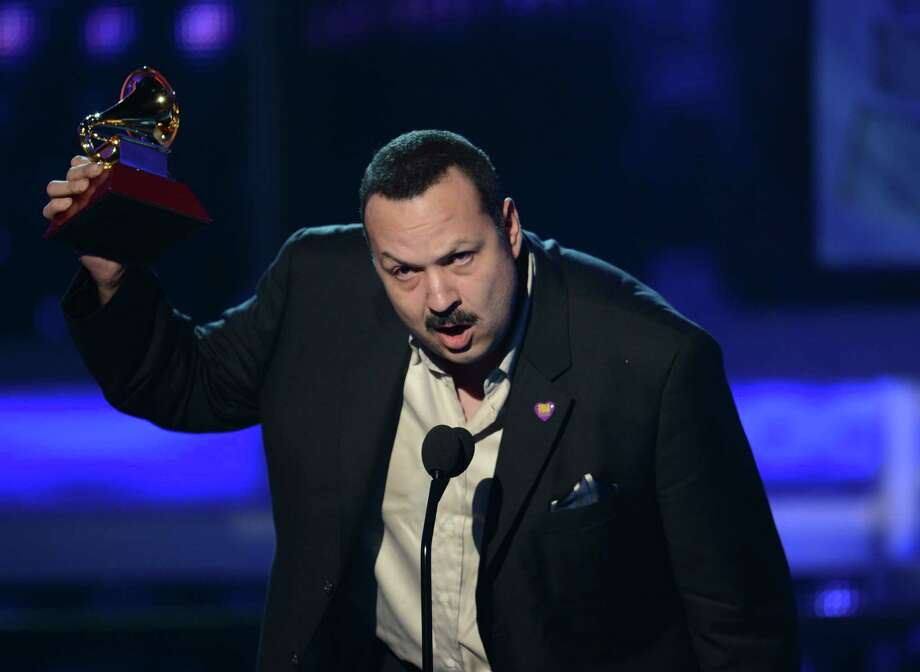Pepe Aguilar gives his acceptance speech during the 13th Annual Latin Grammy show on November 15, 2012 in Las Vegas, Nevada.    AFP PHOTO/Robyn BECKROBYN BECK/AFP/Getty Images Photo: ROBYN BECK, Getty Images / AFP