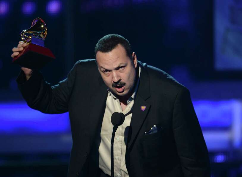 Pepe Aguilar gives his acceptance speech during the 13th Annual Latin Grammy show on November 15, 20