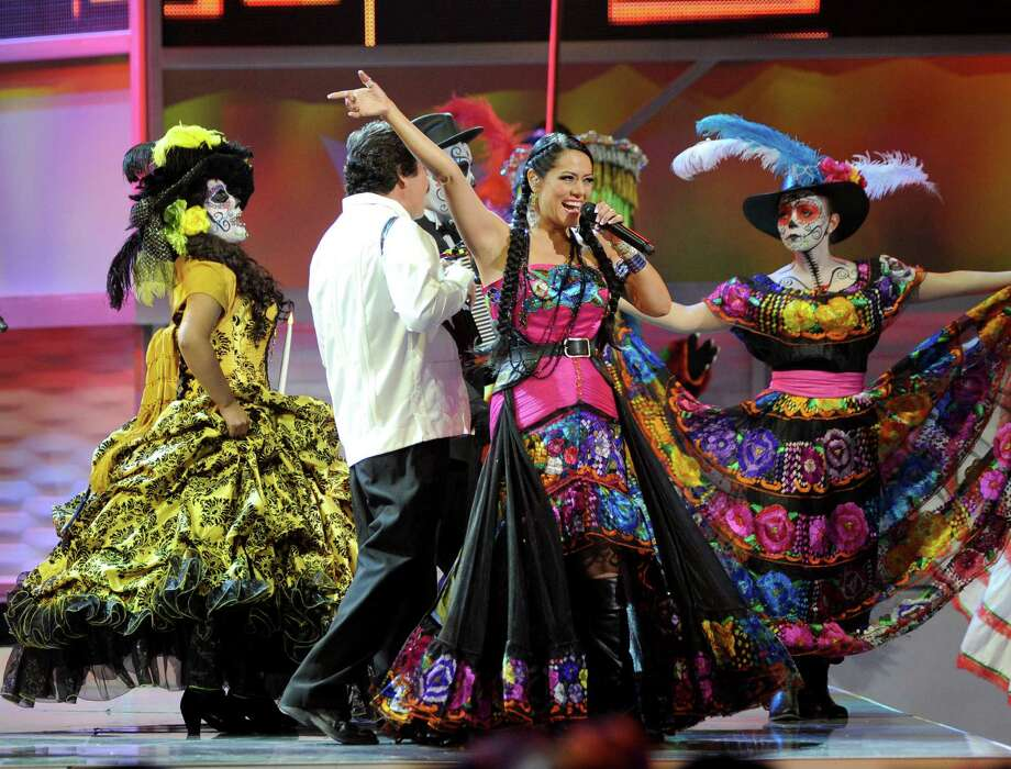 Lila Downs performs at the 13th Annual Latin Grammy Awards at Mandalay Bay on Thursday, Nov. 15, 2012, in Las Vegas. (Photo by Al Powers/Powers Imagery/Invision/AP) Photo: Al Powers, Associated Press / Invision