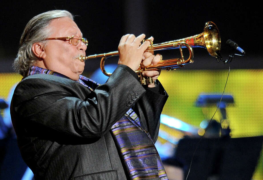 Arturo Sandoval performs at the 13th Annual Latin Grammy Awards at Mandalay Bay on Thursday, Nov. 15, 2012, in Las Vegas. (Photo by Al Powers/Powers Imagery/Invision/AP) Photo: Al Powers, Associated Press / Invision