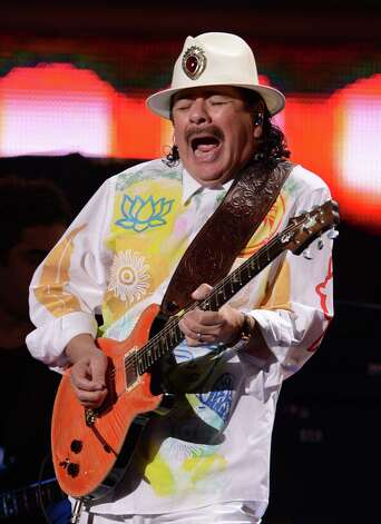 Carlos Santana performs during the 13th Annual Latin Grammy show on November 15, 2012 in Las Vegas, Nevada. AFP PHOTO/Robyn BECKROBYN BECK/AFP/Getty Images Photo: ROBYN BECK, Getty Images / AFP
