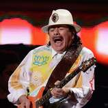Carlos Santana performs during the 13th Annual Latin Grammy show on November 15, 2012 in Las Vegas, Nevada. AFP PHOTO/Robyn BECKROBYN BECK/AFP/Getty Images