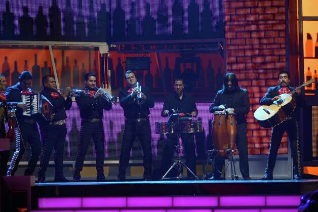 The band of Pedro Fernandez performs onstage during the 13th annual Latin GRAMMY Awards held at the Mandalay Bay Events Center on November 15, 2012 in Las Vegas, Nevada. Photo: Kevork Djansezian, Getty Images / 2012 Getty Images