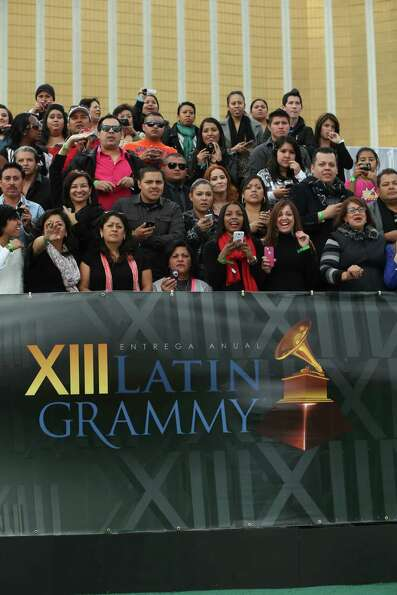 A view of the fans at the 13th annual Latin GRAMMY Awards held at the Mandalay Bay Events Center o
