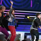 (L-R) Recording artists Skyblu, Bebeto and America Sierra perform onstage during the 13th annual Latin GRAMMY Awards held at the Mandalay Bay Events Center on November 15, 2012 in Las Vegas, Nevada.