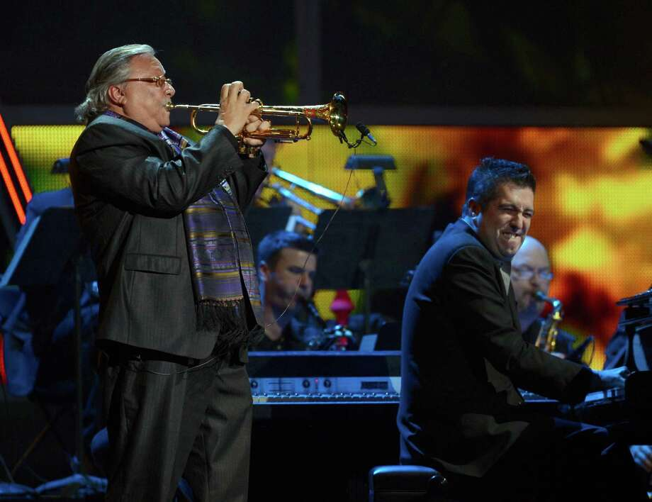 Musician Arturo Sandoval performs onstage during the 13th annual Latin GRAMMY Awards held at the Mandalay Bay Events Center on November 15, 2012 in Las Vegas, Nevada. Photo: Kevork Djansezian, Getty Images / 2012 Getty Images
