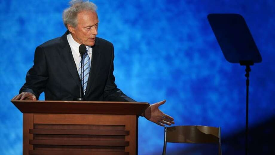 Clint Eastwood -- little appreciated for his undercover work on behalf of the Obama campaign.  Left no fingerprints.