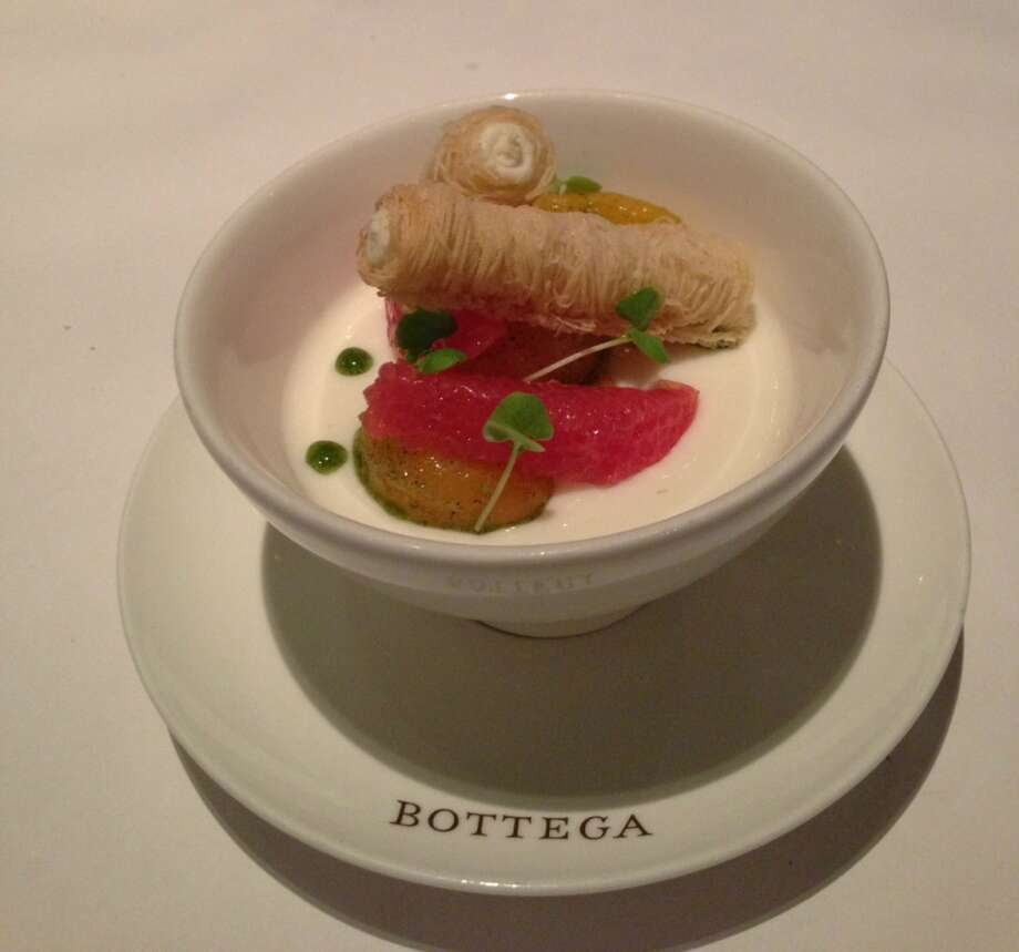 Goat milk panna cotta at Bottega in Yountville