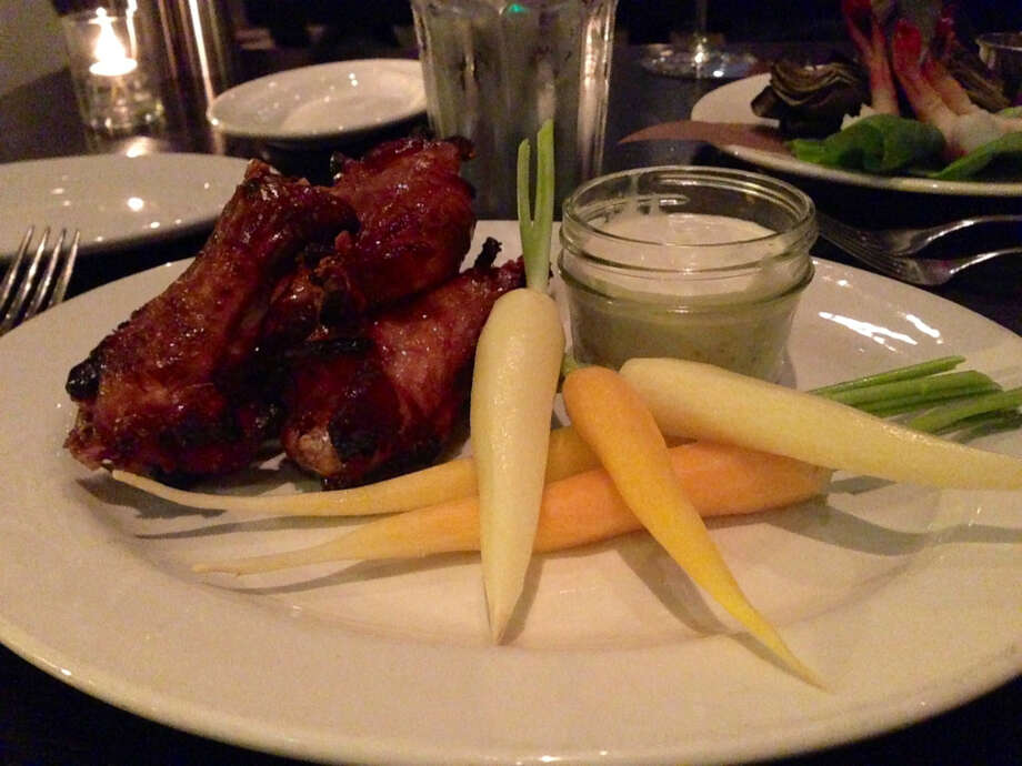 Spicy chicken wings at BarBersQ in Napa