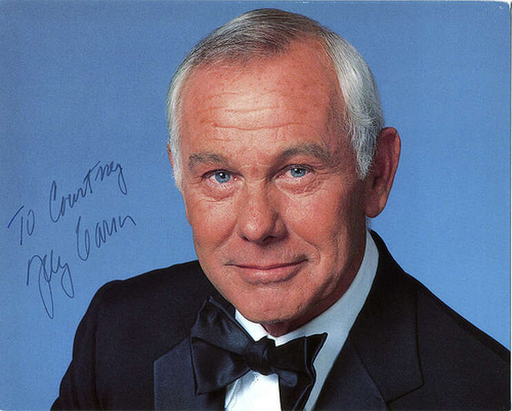 "Johnny Carson - America's late night king for 30 years. But who does ""Courtney"" want to pl"