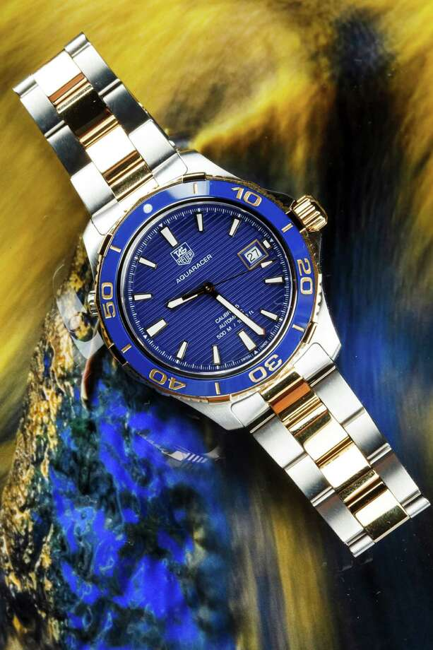 The Aquaracer is available at the new TAG Heuer store in the Galleria. Photo: Michael Paulsen, Staff / © 2012 Houston Chronicle