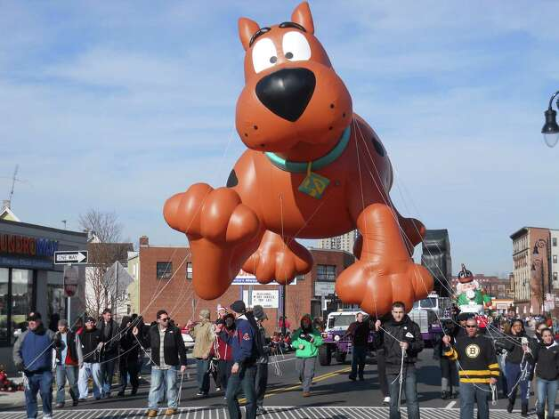 The parade in Springfield, Mass., serves as a mini Macy's Parade. Huge helium balloons, as many as a dozen, slowly meander their way through the downtown business district to the delight of the 100,000 annual visitors. (Spirit of Springfield)