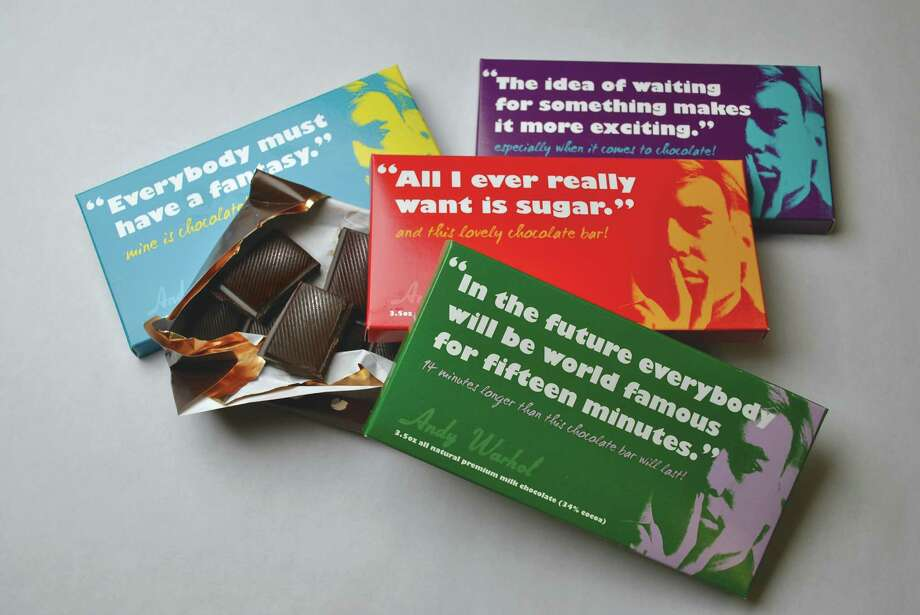 Praim Group, a food licensing, marketing and distribution company has paired with the Andy Warhol Foundation for the Visual Arts to create and distribute a line of all-natural chocolate bars featuring Andy Warhol. Photo: Praim Group / Praim Group