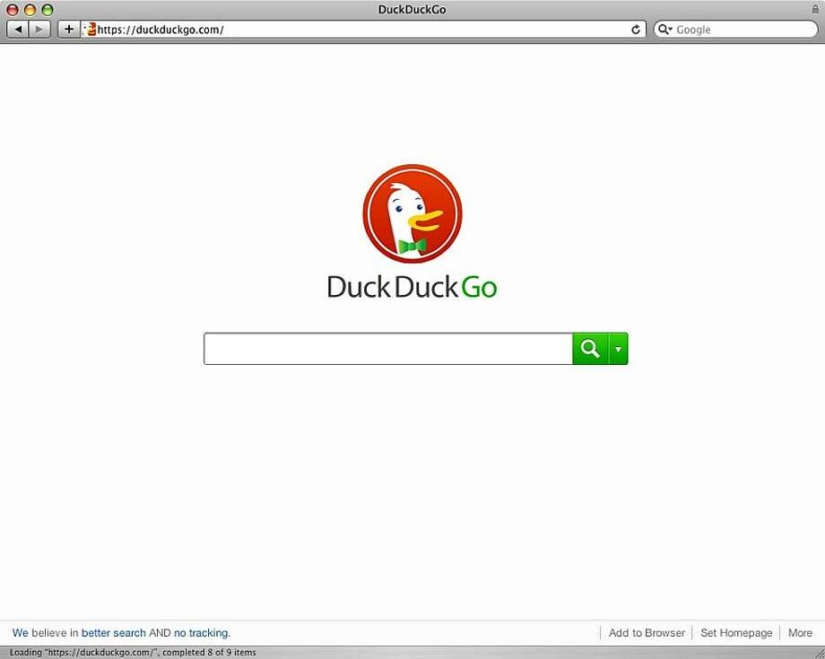 Search engine DuckDuckGo has attracted attention and investors by emphasizing privacy and providing practical results rather than stressing advertising. Photo: DuckDuckGo