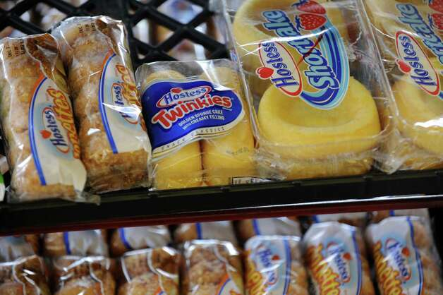 Packages of Hostess Donettes, Twinkies and Shortcake sit on the shelf at the Wonder Bread Bakery Outlet on Wells Street in Bridgeport, Conn. on Friday, Nov. 16, 2012. Nearly 200 Connecticut workers face losing their jobs after Hostess Brands Inc. announced itâÄôs going out of business. Photo: Cathy Zuraw / Connecticut Post