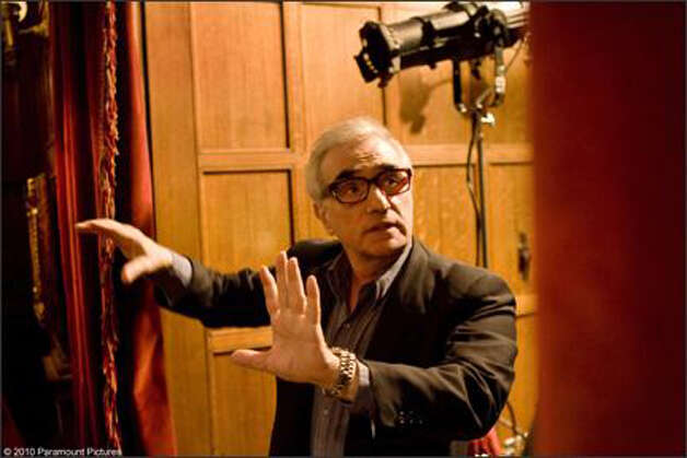 "Martin Scorsese on the set of ""Shutter Island."" Photo: Paramount Pictures"