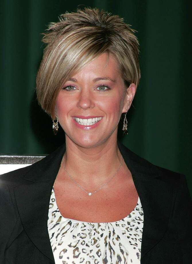 "Kate Gosselin, shown here in 2009, drew criticism and imitators when she debuted her spiky ""reverse  mullet,"" InStyle reports.  Photo: David Livingston, Getty Images / Getty Images North America"