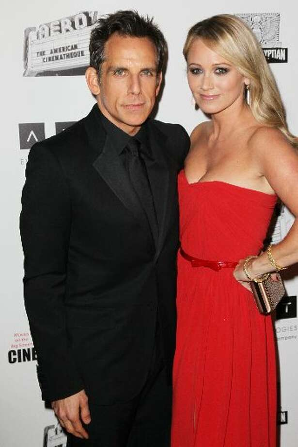 Actors Ben Stiller and Christine Taylor attend the 26th American Cinematheque Award Gala honoring Ben Stiller at The Beverly Hilton Hotel on November 15, 2012 in Beverly Hills, California. (Photo by David Livingston/Getty Images) (Getty)