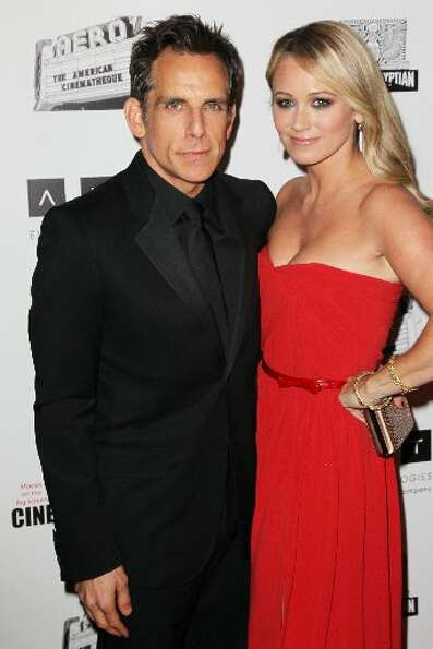 Actors Ben Stiller and Christine Taylor attend the 26th American Cinematheque Award Gala honoring Be