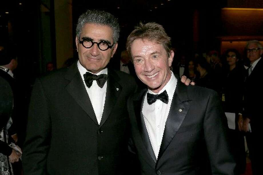 Actors Eugene Levy and Martin Short attend the 26th American Cinematheque Award Gala honoring Ben Stiller at The Beverly Hilton Hotel on November 15, 2012 in Beverly Hills, California. (Photo by Frederick M. Brown/Getty Images) (Getty)