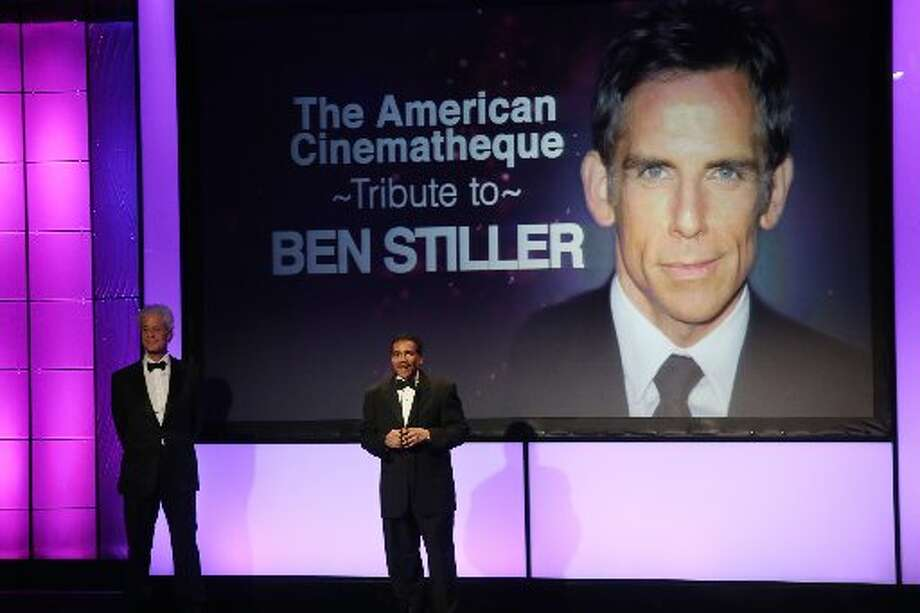 American Cinematheque Chairman Rick Nicita and American Cinematheque President Henry Shields Jr. onstage during the 26th American Cinematheque Award Gala honoring Ben Stiller at The Beverly Hilton Hotel on November 15, 2012 in Beverly Hills, California. (Photo by Frederick M. Brown/Getty Images) (Getty)