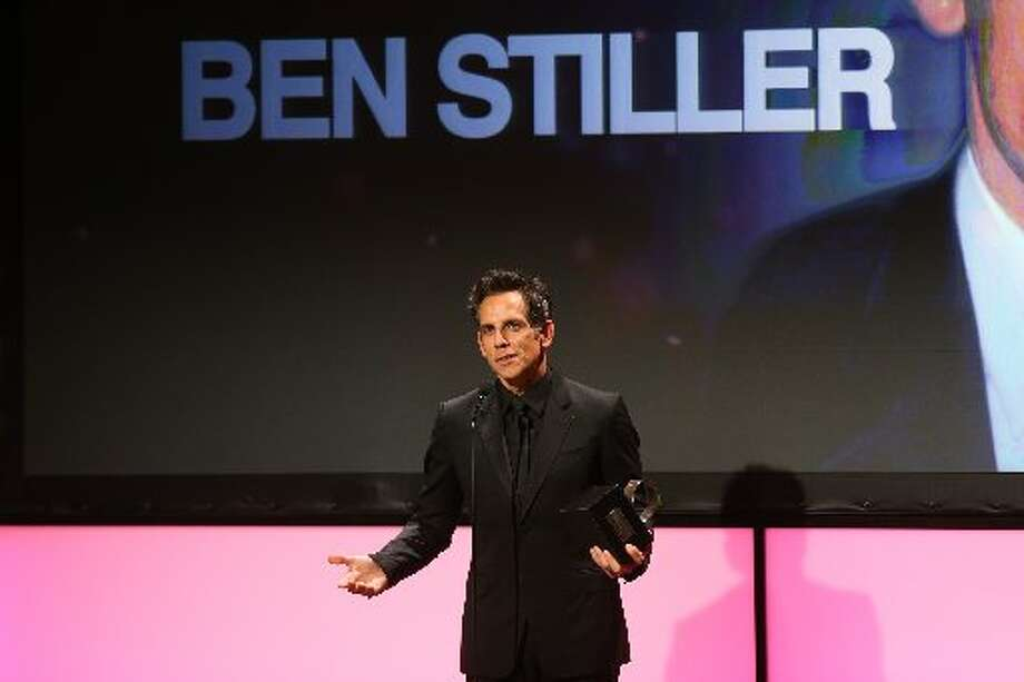 Honoree and actor Ben Stiller accepts his award onstage during the 26th American Cinematheque Award Gala honoring Ben Stiller at The Beverly Hilton Hotel on November 15, 2012 in Beverly Hills, California. (Photo by Frederick M. Brown/Getty Images) (Getty)