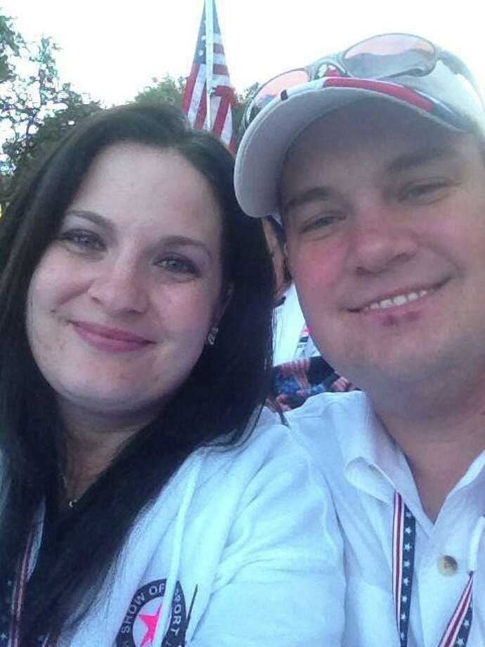 Joshua Michael is seen in an undated courtesy photo provided Friday Nov. 16, 2012 by his family. Sgt. Michael was killed Thursday when.a train collided with the parade float he was riding on during a Show of Support evenet in Midland. He is seen with his wife, Daylyn. Photo: COURTESY / COURTESY OF THE MICHAEL FAMILY