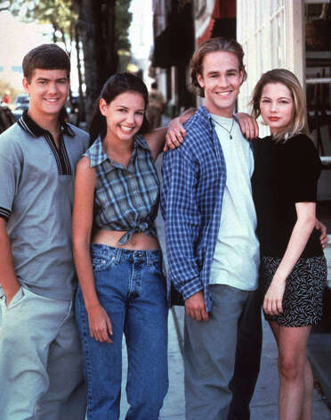 "Here's Michelle Williams (right) in 1998 in the TV show ""Dawson's Creek."" She's pictured with (from left) Joshua Jackson, Katie Holmes and James Van Der Beek.  Photo: AP Photo/WB Network, Associated Press / WARNER BROS."