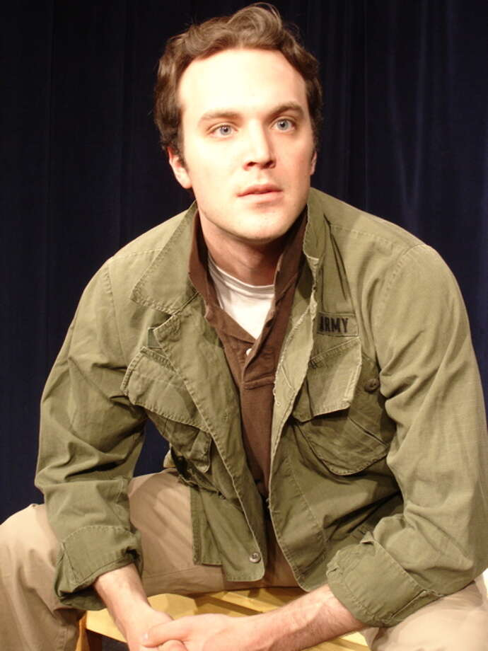 "Photo courtesy The American Place Theatre Billy Lyons, 31, a Shaker High grad, performs a stage adaptation of Tim O'Brien's Vietnam War stories, ""The Things They Carried."""