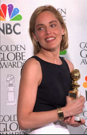 "Sharon Stone is pictured in 1996 after winning a Golden Globe for Best Actress for her work in Scorsese's movie ""Casino."" Photo: AP/LACY ATKINS, Associated Press / AP"