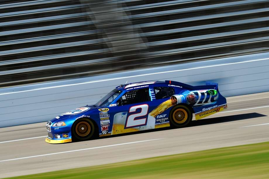 Brad Keselowski drives the #2 Miller Lite Dodge during practice for the NASCAR Sprint Cup Series AAA Texas 500 at Texas Motor Speedway on November 3, 2012 in Fort Worth, Texas. (Getty Images for NASCAR)