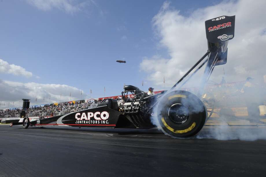 Steve Torrence of Kilgore races his Capco Contractors dragster on the NHRA Top Fuel circuit at the Texas Motorplex in Ennis, Texas. (NHRA)