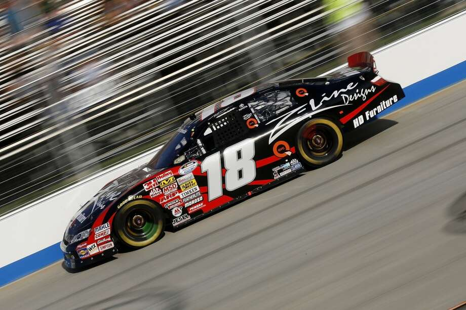 Kyle Busch, driver of the #18 Z-Line Designs Toyota, drives during the NASCAR Nationwide Series Camping World RV 200 at Dover International Speedway on September 20, 2008 in Dover, Delaware.   (Getty Images for NASCAR)