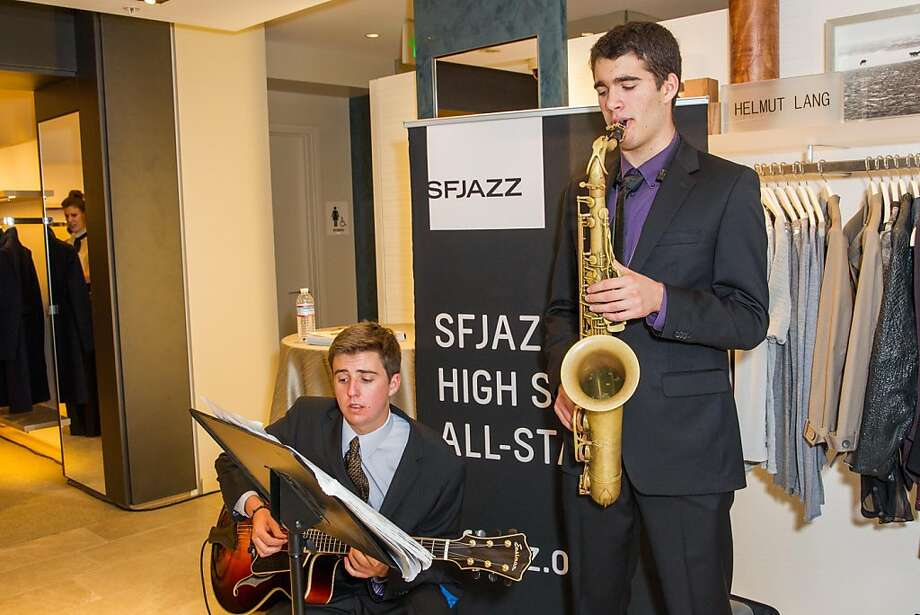 Members of SF Jazz perform at the party celebrating the remodeling of the Wilkes Bashford store. Photo: Drew Altizer Photography