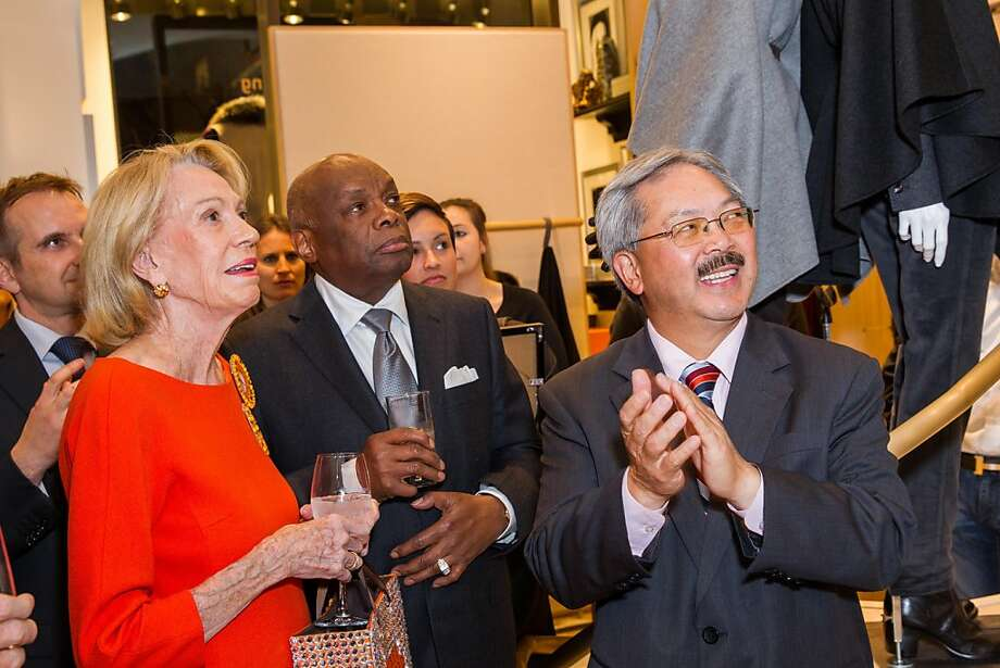 Charlotte Shultz, Willie Brown and Mayor Ed Lee. Photo: Drew Altizer Photography