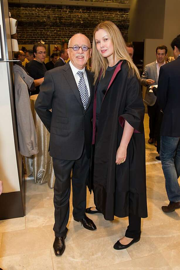 Wilkes Bashford and a woman who knows her way around the fashion world, former runway model Tatiana Sorokko, a contributor to Harper's Bazaar. Photo: Drew Altizer Photography