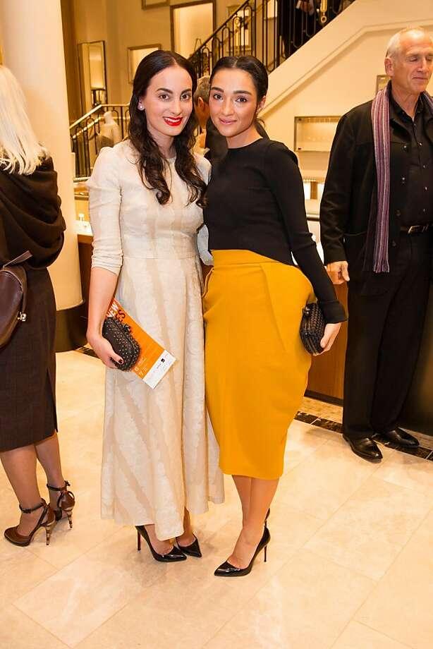 Mina Yazdi and Olya Dzilikhova. Photo: Drew Altizer Photography