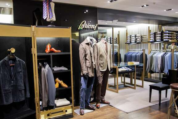 Wilkes Bashford, the tony specialty store, is like a mini department store, with seven levels of menswear and womenswear showcased in a virtual townhouse. The store features Kiton and Brioni boutiques on the top floor, with a bar and fireplace for relaxing.