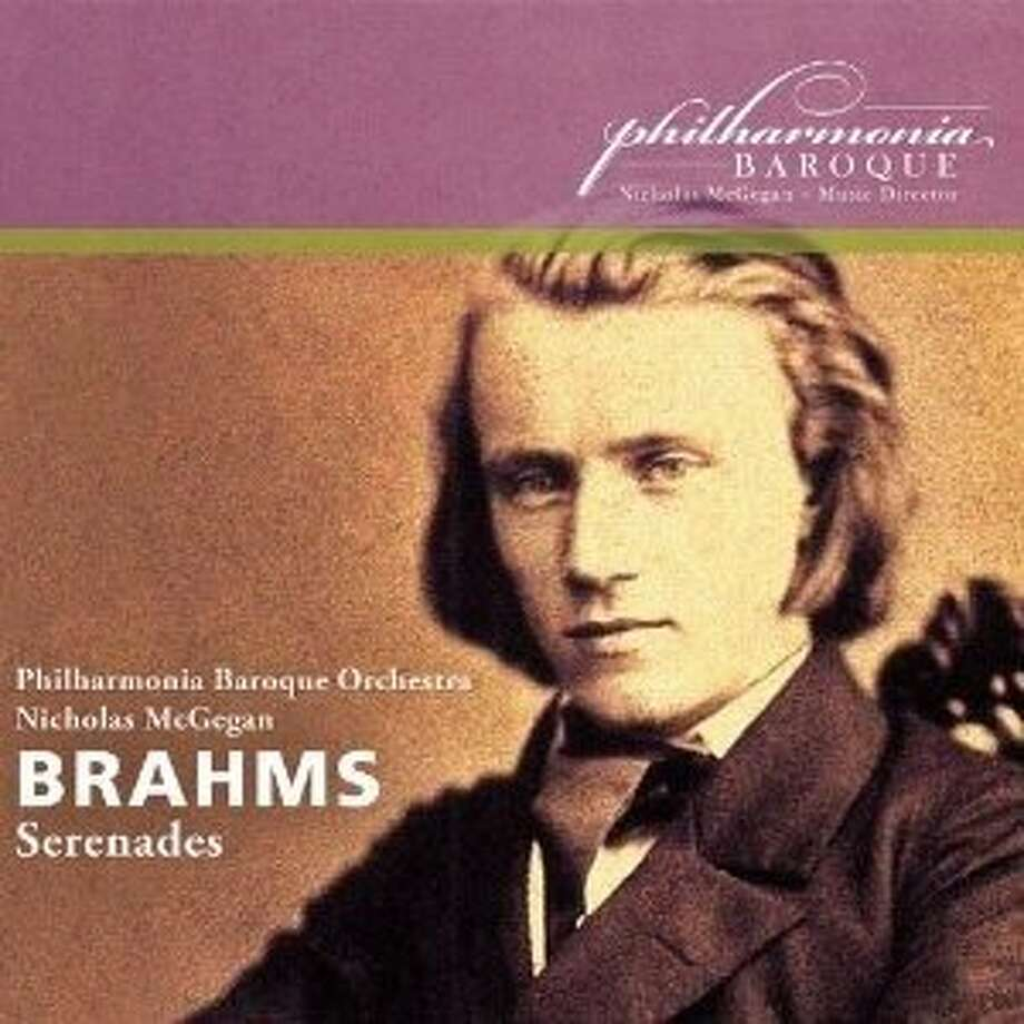 CD cover: Brahms Serenades performed by the Philharmonia Baroque Orchestra Photo: Philharmonia Baroque Productions, Amazon.com
