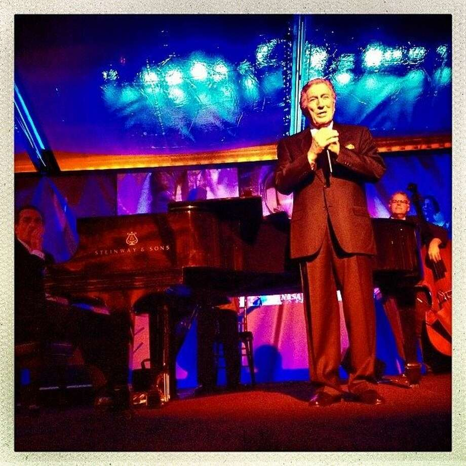 Great performance by Tony Bennett at the Legion of Honor after a screening of the new documentary, Citizen Hearst, directed by Leslie Iwerks. http://instagr.am/p/Q1UAV-pItf/ Photo: Luanne Dietz, The Chronicle