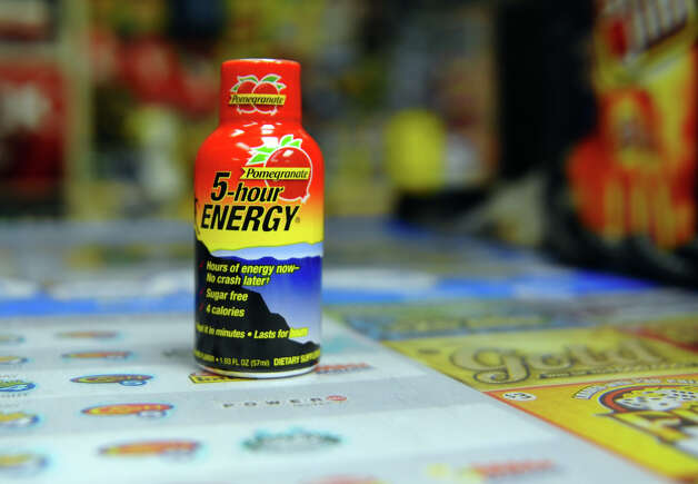 The popular energy drink Five Hour Energy which is for sale at K&H food store on Fairfield Avenue in Bridgeport, Conn. on Friday November 16, 2012. The FDA has announced that it will investigate the popular drink which has led to 13 deaths and 33 hospitalizations over the past four years. Photo: Christian Abraham / Connecticut Post