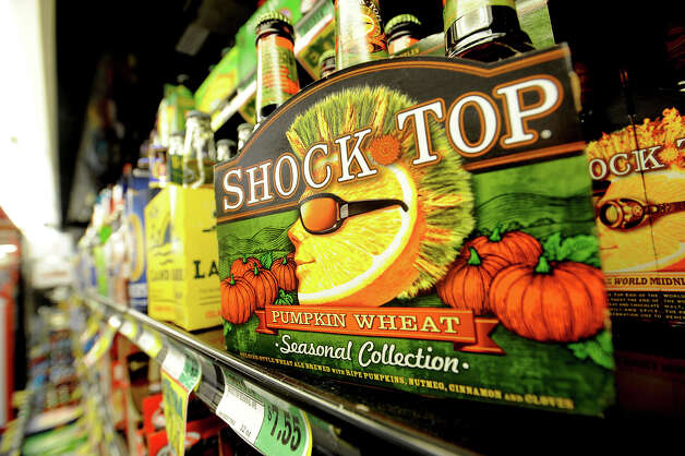 Pumpkin flavored beer is a popular treat including Shock Top's Pumpkin Wheat. Photo taken Tuesday, November 13, 2012 Guiseppe Barranco/The Enterprise Photo: Guiseppe Barranco, STAFF PHOTOGRAPHER / The Beaumont Enterprise
