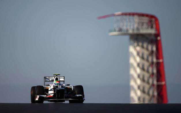 Sergio Perez of Mexico and Sauber F1 drives during practice for the United States Formula One Grand Prix at the Circuit of the Americas on November 16, 2012 in Austin, Texas. Photo: Clive Mason, Getty Images / 2012 Getty Images