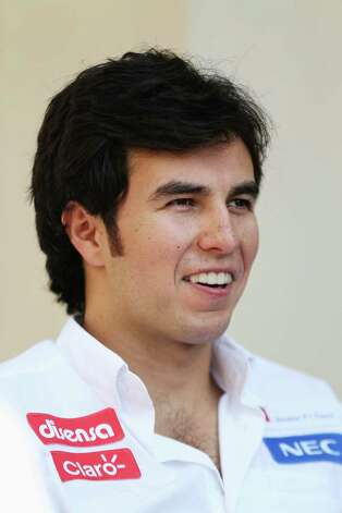 Sergio Perez of Mexico and Sauber F1 talks to the media during previews for the Abu Dhabi Formula One Grand Prix at the Yas Marina Circuit on November 1, 2012 in Abu Dhabi, United Arab Emirates. Photo: Mark Thompson, Getty Images / 2012 Getty Images