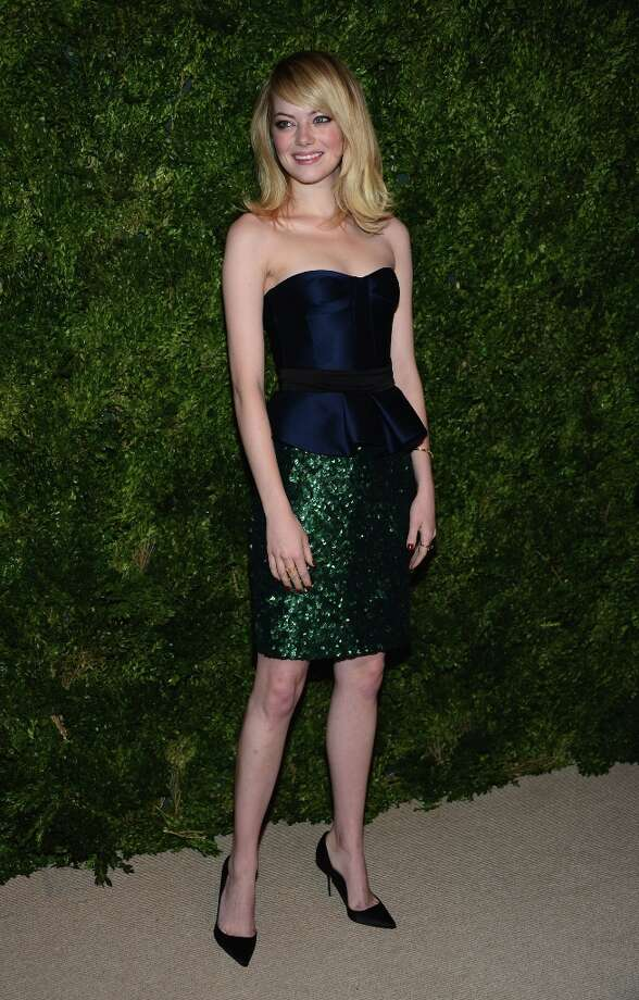Yet another look from Vogue's best dressed woman of the year: actress Emma Stone attends The Ninth Annual CFDA/Vogue Fashion Fund Awards at 548 West 22nd Street on November 13, 2012 in New York City. Photo: Dimitrios Kambouris, Getty Images / 2012 Getty Images