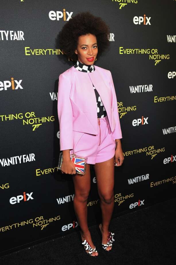 "No. 6: Solange Knowles Singer/actress/songwriter Solange Knowles shown here at the premiere of  ""Everything or Nothing: The Untold Story of 007"" on October 3, 2012 in New York City. Photo: Theo Wargo / 2012 Getty Images"